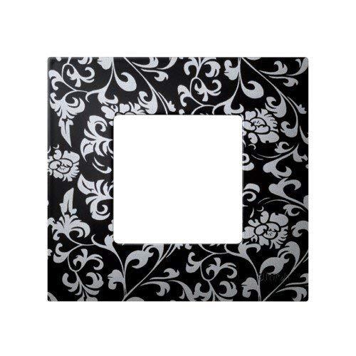 Simon 2700617-804 - Funda 1 Elemento Vintage Negro-Plata