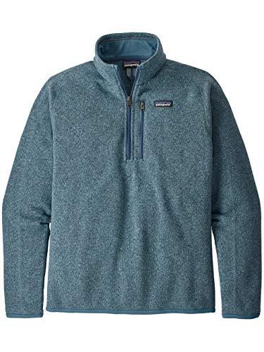 Patagonia Herren Sweatshirt M's Better Sweater 1/4 Zip XXL blau (Pigeon Blue)