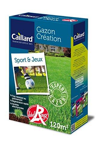 Caillard PFSB19804 Graines de Gazon Sport et Jeux 3 Kg 120 m²