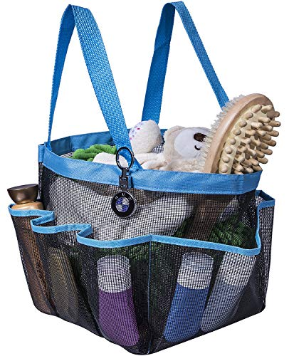 Attmu Mesh Shower Caddy for College Dorm Room Essentials Hanging Portable Tote Bag Toiletry for Bathroom Accessories