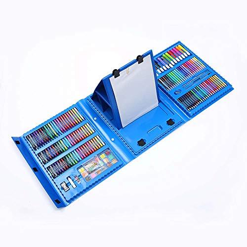 Feng tata 208 Pinsel Mit Zeichenbrett Aquarell-Stift Malerei Sets, Kinderkunst Pädagogischen Spielzeugs, Klassische Farben Malutensilien, Geschenk,Blau