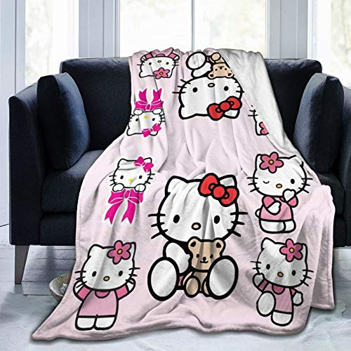 KURITIAN Pink Hello Kittyhalloween Hello Kitty Kids Bedding Super Soft Plush Flannel Blanket60 X50