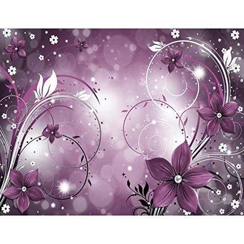 Fototapete Blumen Abstrakt Violett Vlies Wand Tapete Wohnzimmer Schlafzimmer Büro Flur Dekoration Wandbilder XXL Moderne Wanddeko - 100% MADE IN GERMANY - Runa Tapeten 9205010b