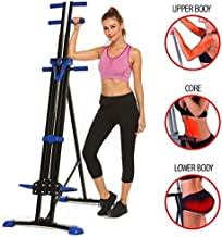 Home Stair Climber Machine, Folding Vertical Climber Cardio Exercise Machine Home Fitness Stepper Gym Exercise Bike for Total Body Workout Training (Blue)