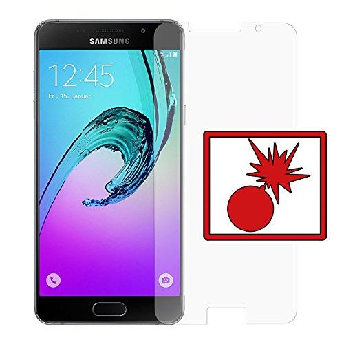 Slabo 2 x Panzerschutzfolie kompatibel mit Samsung Galaxy A5 (2016) A510F Nicht A5 (SM-A500FU) Panzerfolie Displayschutzfolie Schutzfolie Folie (verkleinerte Folien) Shockproof KLAR