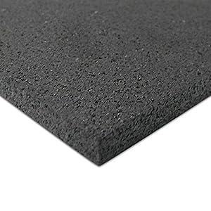 Rubber-Cal Recycled Floor Mat, Black, 3/8-Inch x 4 x 6-Feet