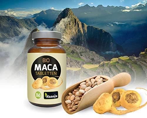 Bio Maca Premium 4:1 Pulver 500 mg 360 Tabletten - Soja & Laktosefrei - aus kontrolliert biologischem Anbau