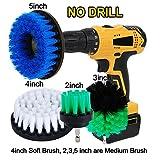 Oxoxo 5,1cm 7,6cm 10,2cm 12,7cm drill Brush–Medium Soft attaccamento scrub k...