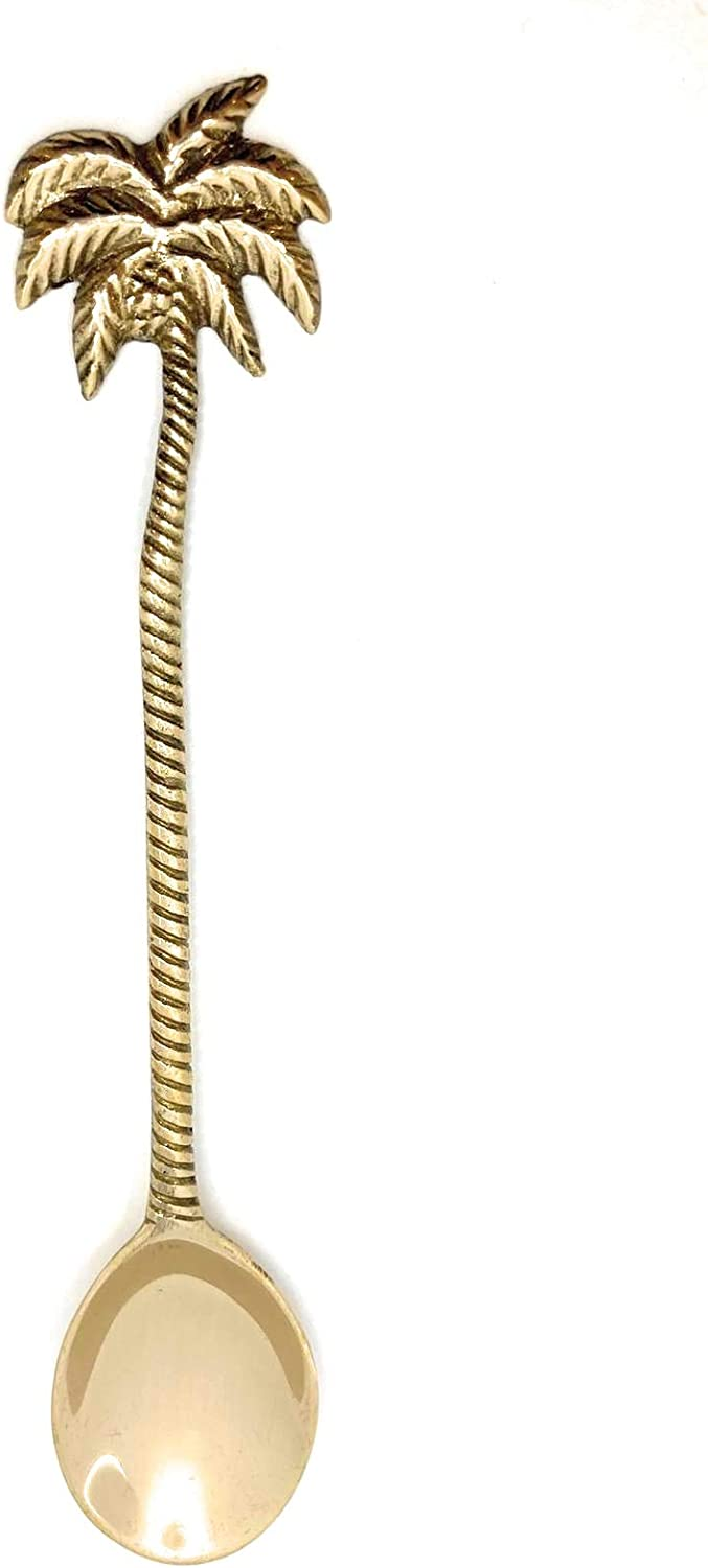 Honey bee Spoon Ideal for Dessert Gift Item or add a Touch of Style to Your Coconut Bowl. Durable Long Gold Brass Construction