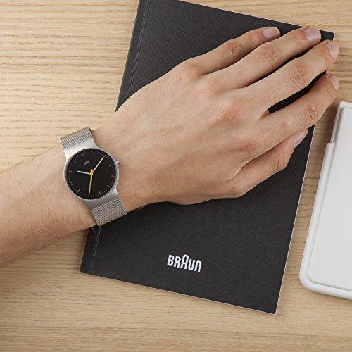 Braun Men's BN0211BKSLMHG Classic Slim Analog Display Japanese Quartz Silver Watch