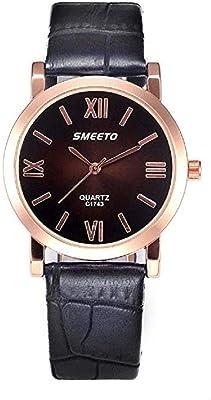 Fashion Clearance Watch! Noopvan Womens Ladies Teen Girls Fashion Dress Wrist Quartz Watch with Leather