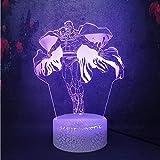 Nordic Modern Creative3D LED Touch Acrílico Control remoto Luz nocturna Magneto Figura Crack Lámpara Decoración