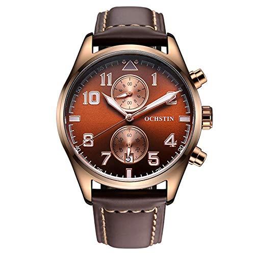 Armbanduhr,Mode-Trend Wasserdicht Geschwindigkeit Messen Lässig Großes Zifferblatt Quarzuhr, Kaffeetasse