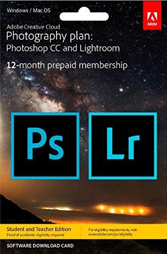 Adobe Creative Cloud Photography Plan Keycard Student Teacher Edition [import anglais]