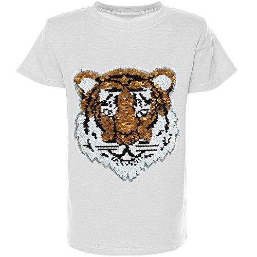 BEZLIT Jungen Wende-Pailletten T-Shirt Kurzarm Sommer Shirt Bluse 21328 Weiß Größe 104