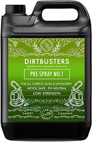 Dirtbusters Professional Pre Spray Nummer 1 Lösung Teppich & Polsterreiniger. Neutraler pH-Wert für die sichere Reinigung von Wolle, Naturstoffen und Teppichen vor der Haarwäsche