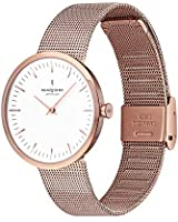 Nordgreen Infinity Scandinavian Rose Gold Women's Watch Analog 32mm (Small Face) with Rose Gold Mesh Strap 10029