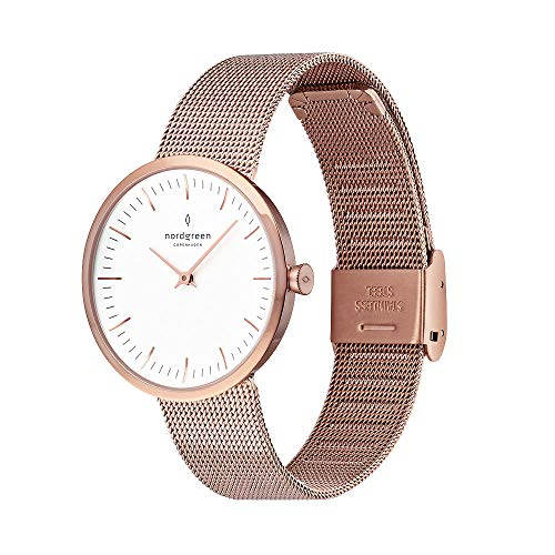 Nordgreen Unisex Infinity Scandinavian Analog Watch in Rose Gold 32mm (Small) with...
