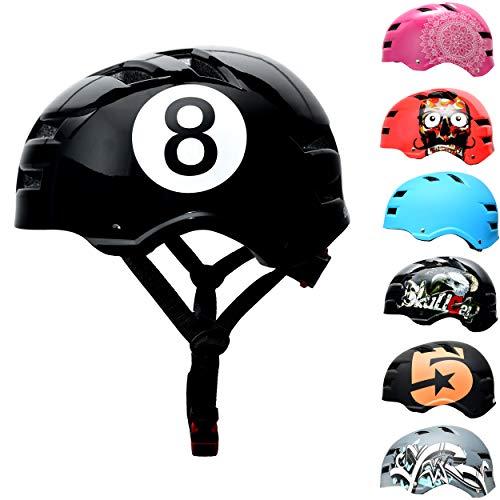 Skullcap® Skaterhelm Erwachsene Schwarz Black-8 - Fahrradhelm Herren ab 14 Jahre Größe L 58-61 cm - Scoot and Ride Helmet Adult Black - Skater Helm für BMX Inliner Fahrrad Skateboard