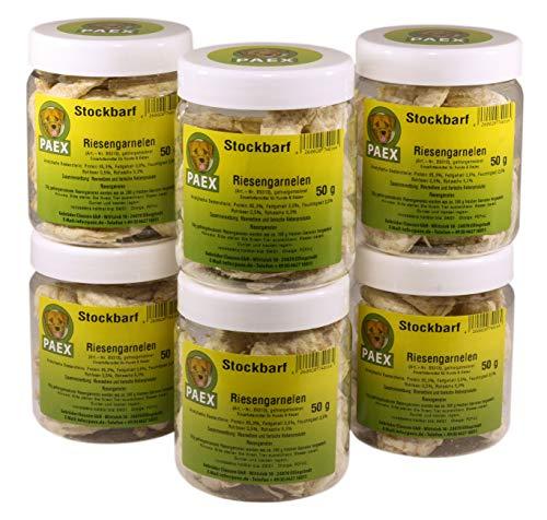 PAEX Stockbarf Riesengarnelen, gefriergetrocknet, Hundefutter, 300 g
