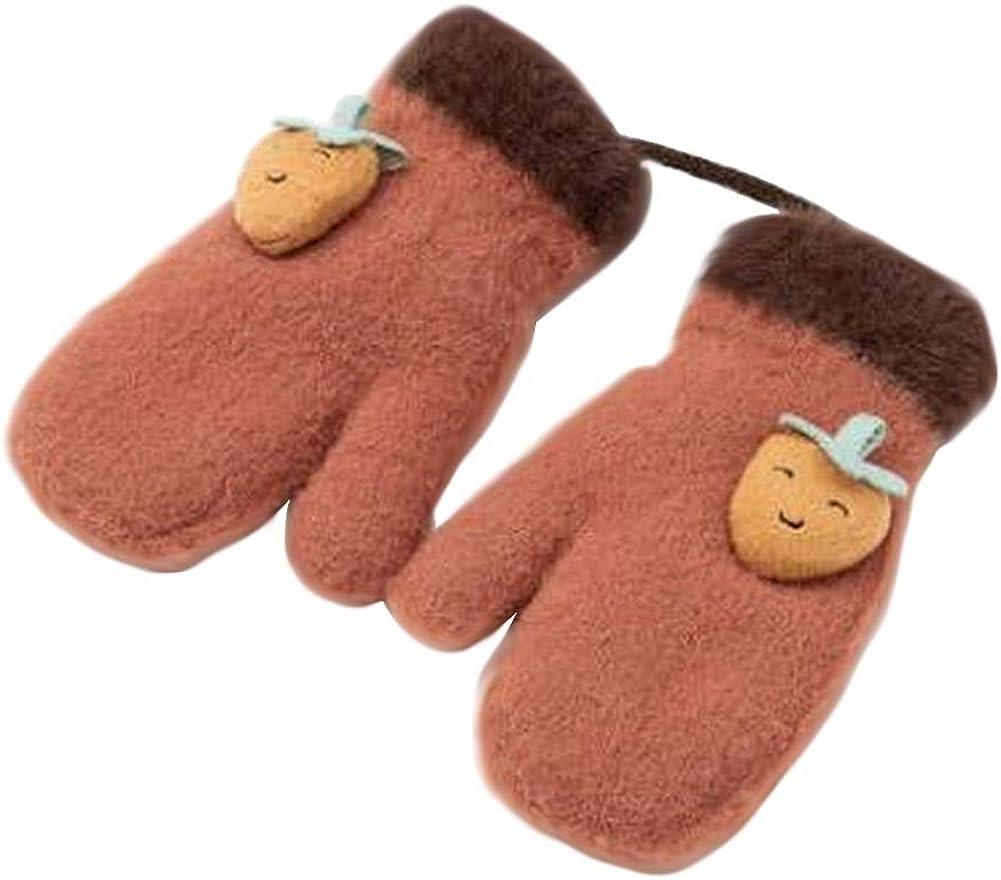 Lovely Knitted Baby Mittens Warm Winter Children Mittens Baby Gloves #06