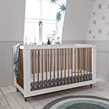 Siena <span class='highlight'>Wooden</span> <span class='highlight'>Cot</span> <span class='highlight'>Bed</span> (<span class='highlight'>Tutti</span> <span class='highlight'>Bambini</span>) 3 in 1 Convertible Baby <span class='highlight'>Cot</span> <span class='highlight'>Bed</span> and Toddler <span class='highlight'>Bed</span> in in Stylish White and Beech