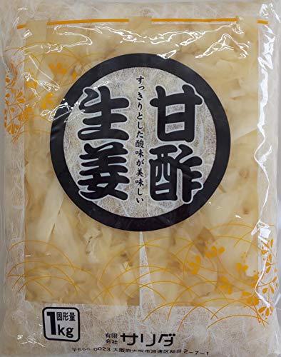 中国産 甘酢生姜 漬け ( 白 )  1kg×20P 寿司がり 定番品 業務用