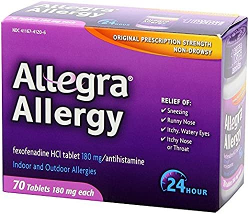 Allegra 24 specialty Charlotte Mall shop Hour Allergy 70 Tablets Count
