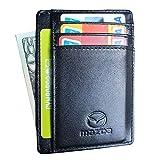 Auto sport Slim Minimalist Front Pocket RFID Blocking Leather Wallets Card Holder Purse for Men Women Fit Mazda Accessories