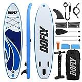 DOFLY Tabla de surf de remo, hinchable, con remo, 320 cm de largo x 80 cm de ancho x 15 cm de alto, tabla de yoga, hasta 150 kg de peso
