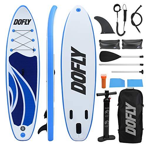 DOFLY Stand Up Paddle Board Set gonfiabile, tavola da surf con pagaia, 320 cm L x 80 cm W x 15 cm H Fitness Yoga Board fino a 150 kg