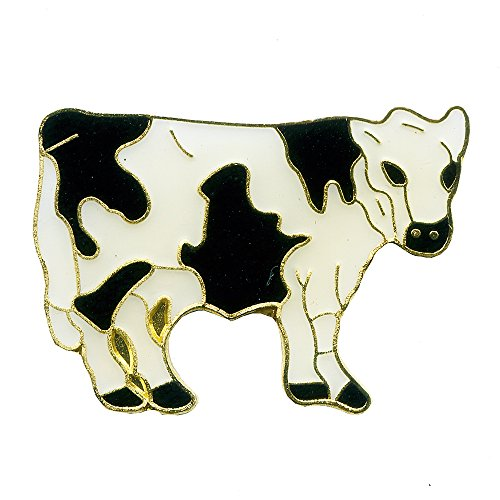 Kuh Hausrind Bauernhof Cow Badge Metall Button Pin Nadel Anstecker 0716
