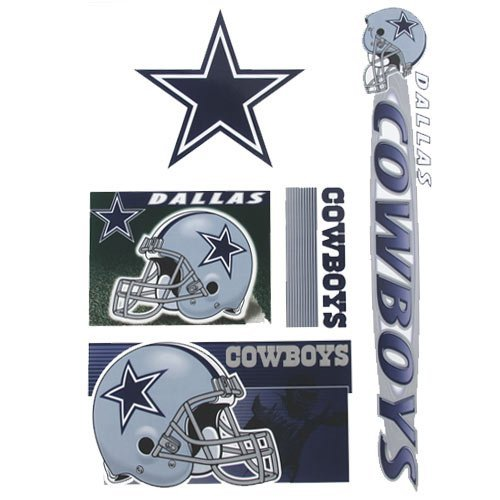 Dallas Cowboys SET OF 5 ULTRA DECALS Removable & Reusable NFL Window Decals