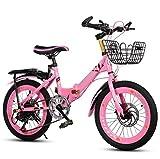 LCYFBE Bicicleta para niñas, Bicicleta para niñas, Bicicleta Deportiva para niños, niñas, Bicicleta de Ciudad, Bicicleta Plegable de Aluminio de 6 velocidades