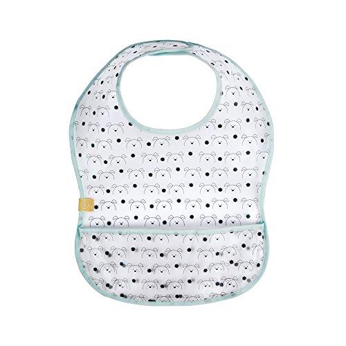 LÄSSIG Baby Lätzchen abwaschbar Auffangschutz wasserdicht Klettverschluss 1 Stk./EVA Bib Little Chums Dog, mint