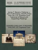 James T. Stevens, Petitioner, v. John P. McCloskey, Sheriff of New York City. U.S. Supreme Court Transcript of Record with Supporting Pleadings