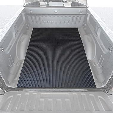 BDK Heavy-Duty Utility Truck Bed Floor Mat - Thick Rubber Cargo Mat