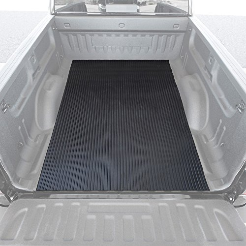 BDK M330 Heavy-Duty Truck Utility Bed Mat – Extra-Thick 4' x 8' Rubber Cargo Liner, Durable All-Weather Protection, Trim-To-Fit Design, Black