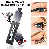 Mascara 360 Max Curve 4D con fibre di seta, waterproof, per ciglia extra lunghe, allungamento naturale e ispessimento estensione 4D, colore nero