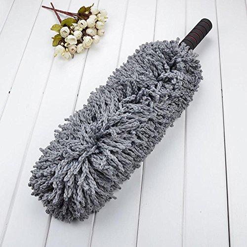 Voiture rétractable cire brosse voiture cire remorquage voiture brosse poussière lave-auto brosse vadrouille fibre de coton fibre ultra-fine ronde gris gris