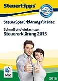 SteuerSparErklärung 2016 - Mac-Version (für Steuerjahr 2015) [Mac Download]