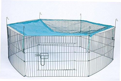Trixie Natura Enclos d'extérieur 6 éléments pour Jeunes Animaux avec Filet, 58 38 x 38 x 38 cm