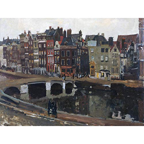 Breitner The Rokin In Amsterdam Painting Large Wall Art Poster Print Thick Paper 18X24 Inch Gemälde Wand Poster drucken