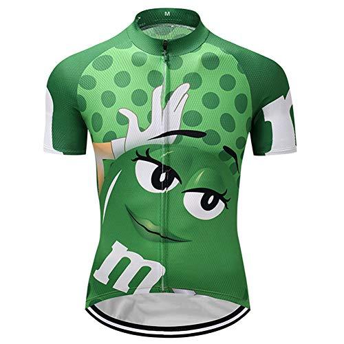 Qianliuk Funny Cartoon Radfahren Trikots Erwachsene Trocknen Schnell Anti-schweiß Kurzarm Radfahren Kleidung Fahrrad Top Shirt Moutain Bike Sportswear 7 Farben