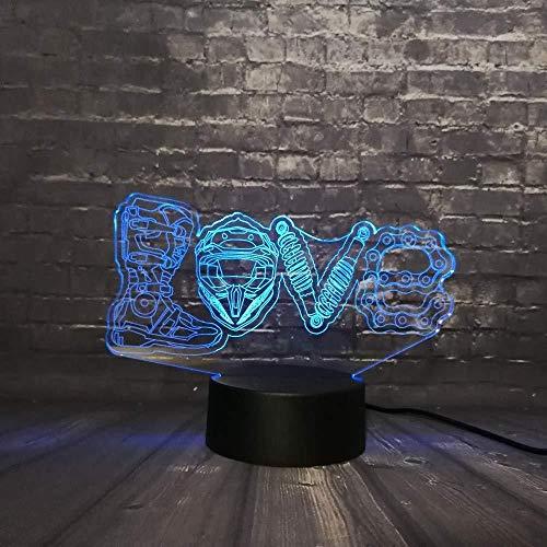 Nieuwe 3D Led Nacht Licht Bureau Tafel Lava 7 Kleur Verander Liefde Schoenen Ketting Tool Jongen Kid Speelgoed USB Basisschakelaar Creatieve Gift3D Illusie Lampliving Kamers