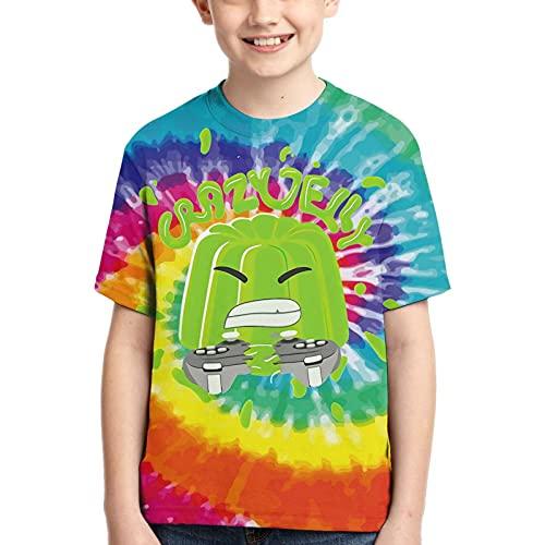 Kids T-Shirts 3D Print Summer Shirt Tees for Boys Girls Anime Crewneck Short Sleeves Teen Game Shirt