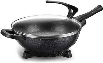 JSMY Pot de Wok électrique Multifonctionnel de Cuisson Domestique poêle à Frire électrique Hot Pot