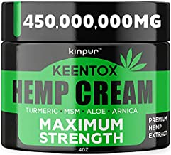 Natural Hemp Cream for Joints, Neck, Back, Knees, Elbows, Fingers - Made in the USA - Maximum Potency Hemp Oil Extract Gel with Msm