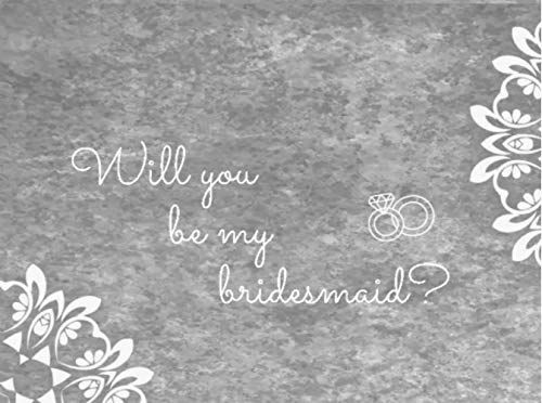 8 Will You be My Bridesmaid Card Invitation Set 2 Maid of Honor Proposal Note Cards Chalk & Kraft with envelopes I Can't say I do Without You