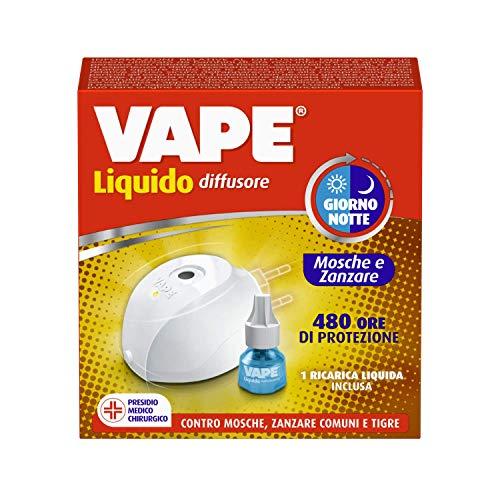 Vape Difusor eléctrico líquido día/noche para moscas y mosquitos, duración 480 horas